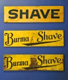 Set of Three c. 1928 Burma-Shave Highway Advertising Signs thumbnail 4