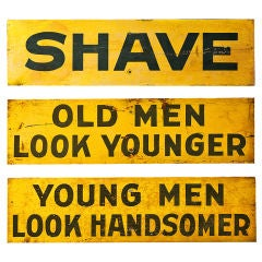 Set of Three c. 1928 Burma-Shave Highway Advertising Signs thumbnail 1