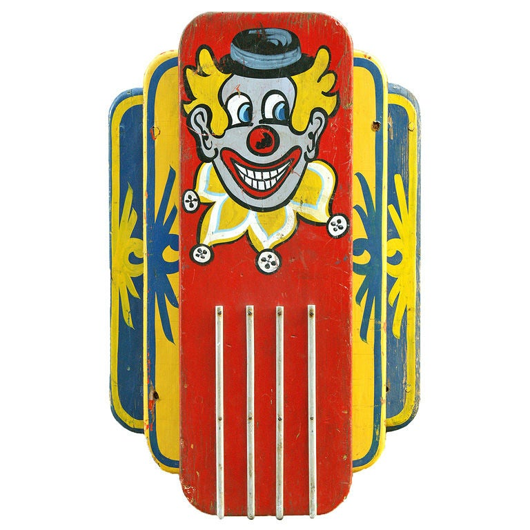 Clown Carousel Light, circa 1940s