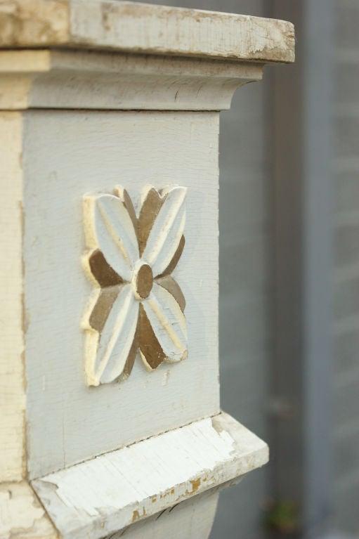 Hand Carved Birch Base Planter Or Font For Sale At 1stdibs