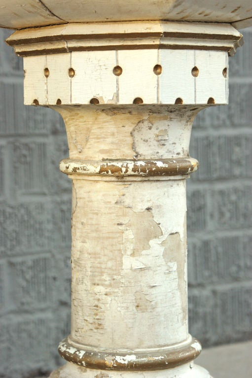 Hand-Carved Birch Base Planter or Font In Good Condition For Sale In Santa Monica, CA
