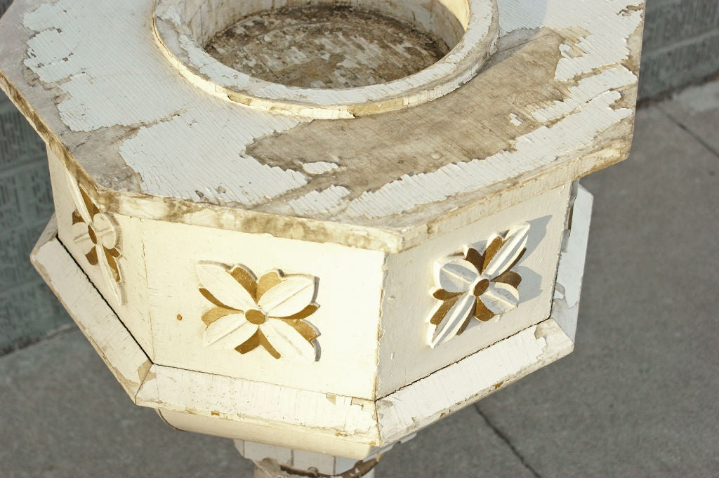 Mid-20th Century Hand-Carved Birch Base Planter or Font For Sale