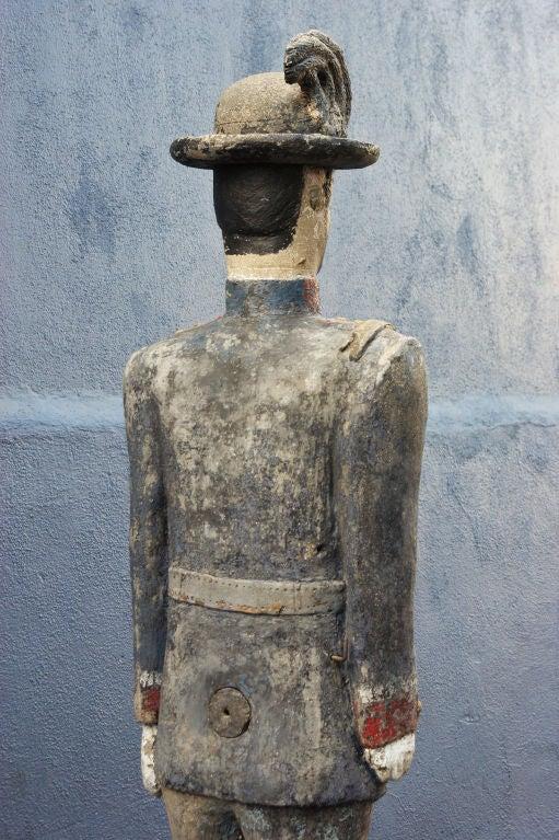 20th Century Concrete Soldier Statue circa 1900 Chicago Area Garden For Sale