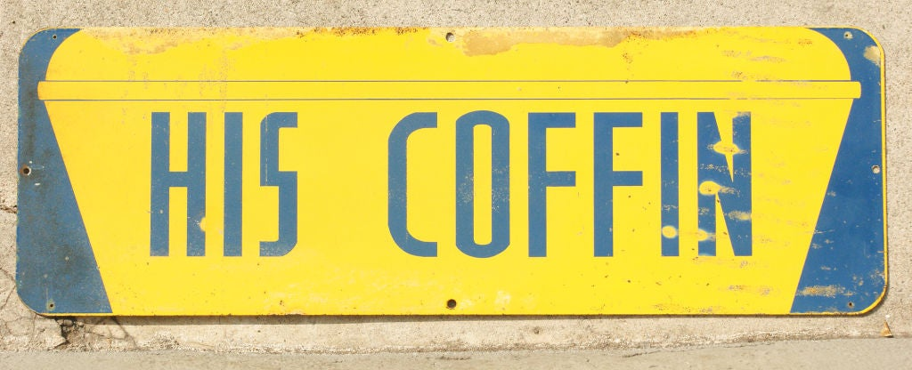 Mid-20th Century Set of Temperance Day Sheet Metal Road Signs, circa 1951 For Sale