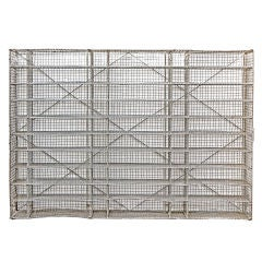 Large Industrial Wire Zinc Shelf Storage, Excellent Wine Storage