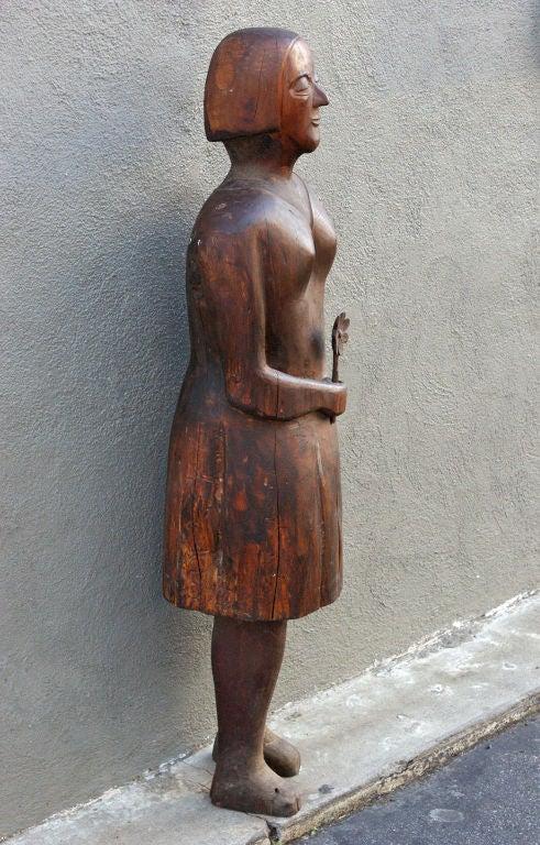 Hand carved wooden folk art figures for sale at stdibs