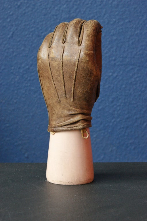 Steampunk Late 19th Century Prosthetic Hand with Leather Glove For Sale