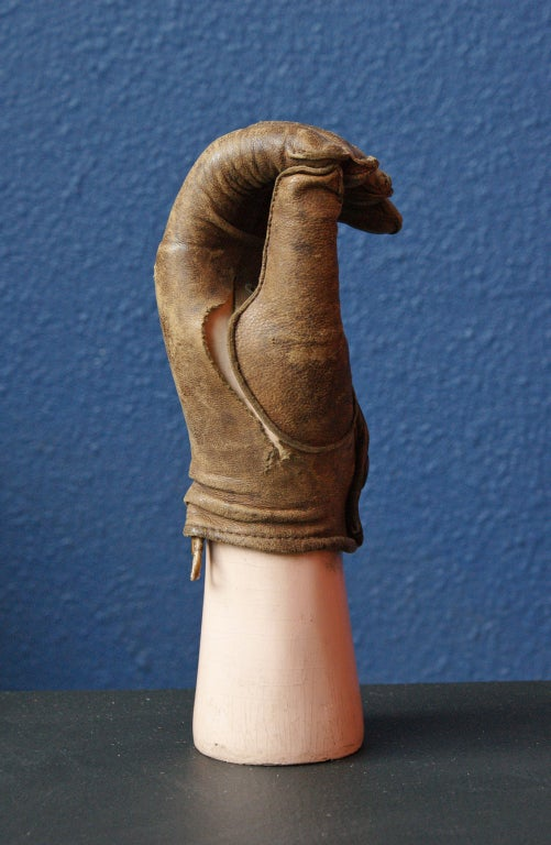 American Late 19th Century Prosthetic Hand with Leather Glove For Sale