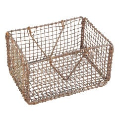 Late 19th Century Mississippi River Woven Iron Basket