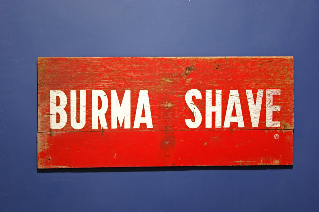 Burma Shave Highway Advertising Signs At 1stdibs
