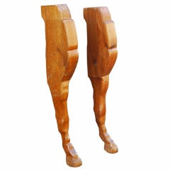 Larger Than Life Carved Kentucky Horse Farm Mantel Horse Legs
