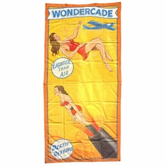 American Sideshow Wondercade Circus Banner Signed J. Sigler