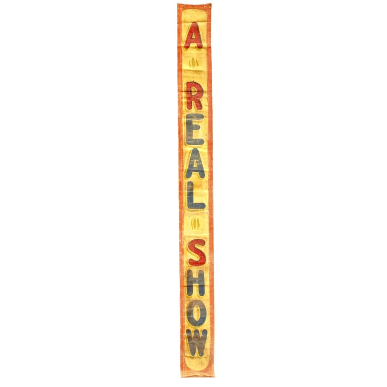 Carnival Midway Sideshow Banner For Sale