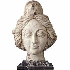 American Carnival Wagon or Band Organ Carved Female Head