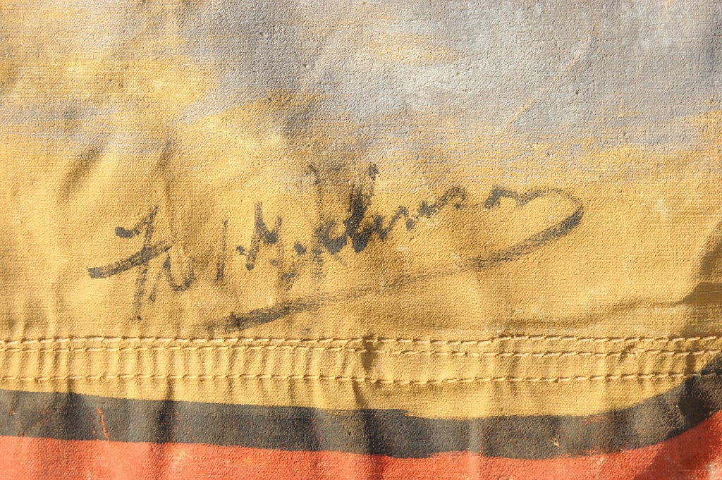 c. 1940's Fred Johnson Signed Sideshow Banner 2
