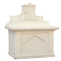 Southern United States African American Chip Carved Folk Art Church Altar