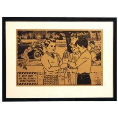 Vintage Framed Paint By Number Safety Signs