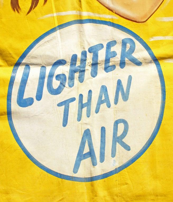 Folk Art American Sideshow Wondercade Circus Banner Signed J. Sigler For Sale