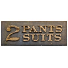 Early Three Dimensional Victorian Era Men's Clothing Store Sign