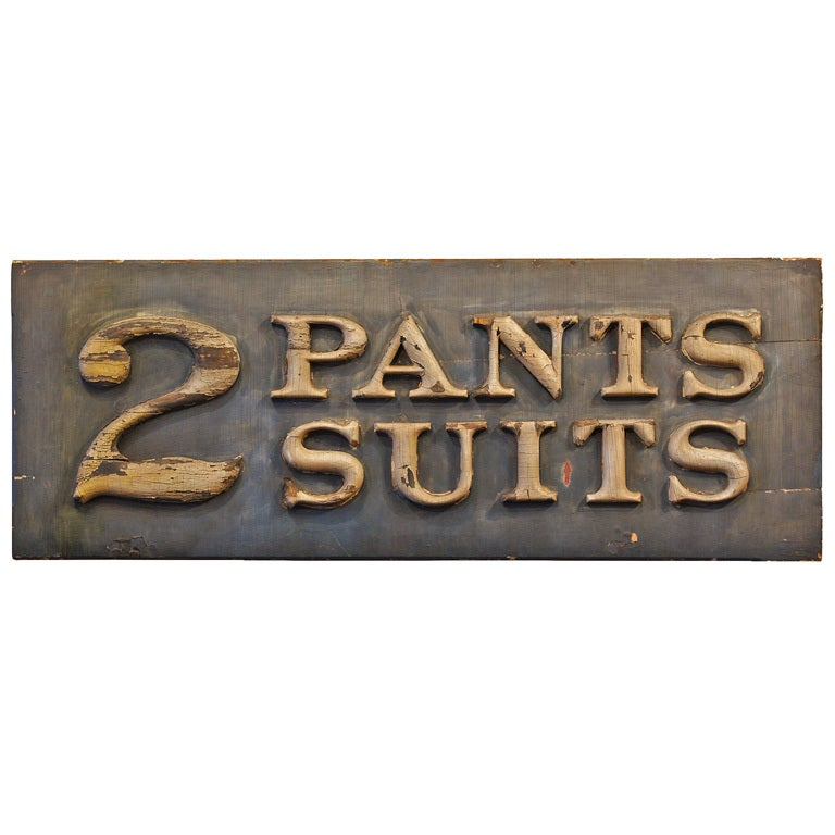 Victorian Era Men's Clothing Store Sign