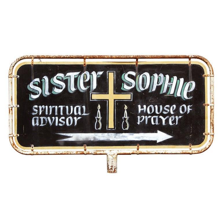 1940s Spiritual Advisor Billboard Sign