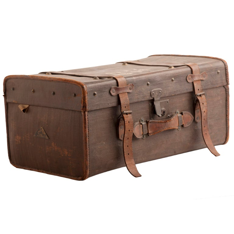 1940 S English Leather Luggage Trunk At 1stdibs
