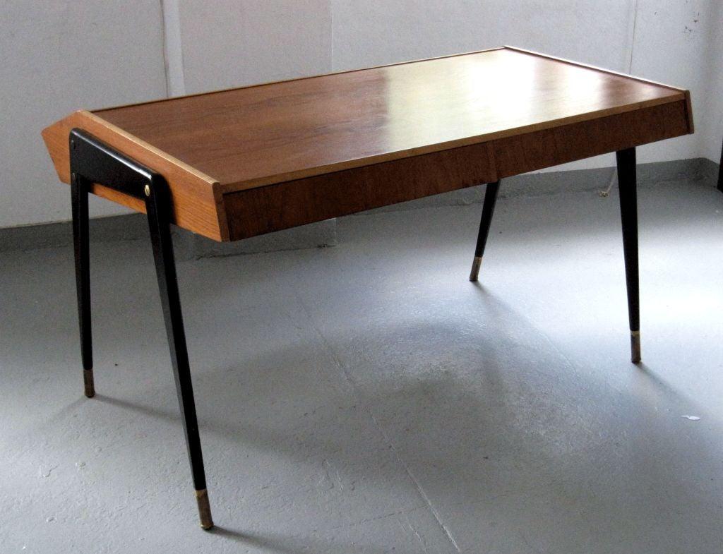 Ebonized Wood Furniture ~ Carlo de carli laminated and ebonized wood desk at stdibs
