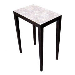 Pair of Lacquered and Eggshell Side Tables