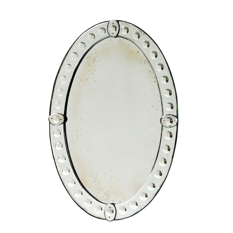 Oval Victoria Venetian Mirror at 1stdibs