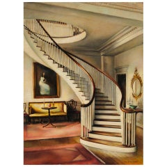 Oil on Canvas of the Montmorenci Staircase at Winterthur