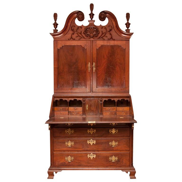 Walnut Chippendale Secretary Desk At 1stdibs