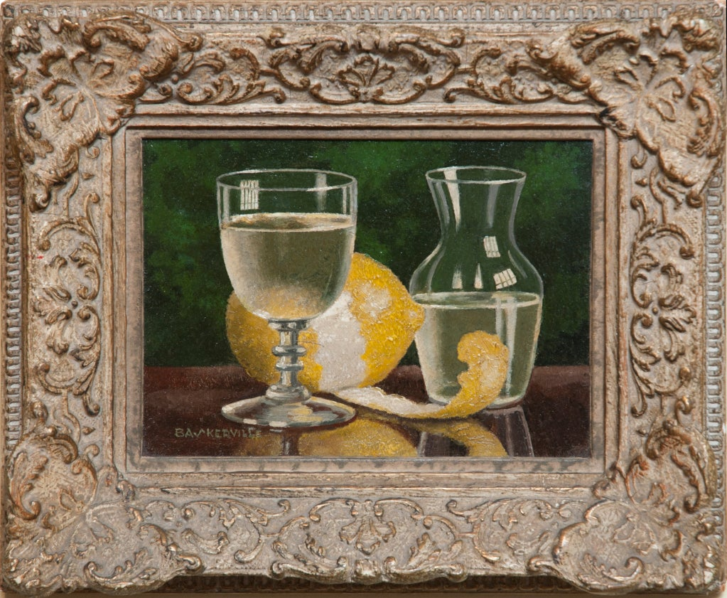 Oil on Board Still Life by Charles Baskerville 2