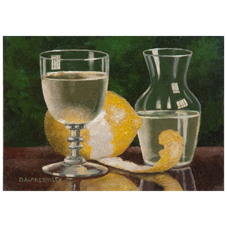 Oil on Board Still Life by Charles Baskerville 1