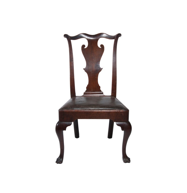 Walnut Queen Anne Side Chair At 1stdibs