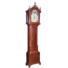 Mahogany Tall Case Clock by Aaron Willard