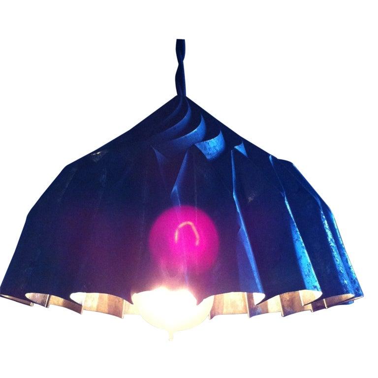 Dramatic Industrial Pendant Light Fixture at 1stdibs