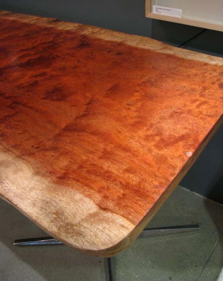 Live edge african bubinga slab table at 1stdibs for Live edge wood slabs new york