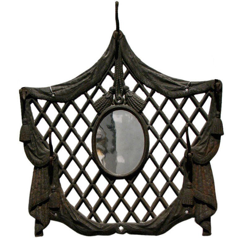 Victorian Cast Iron Entryway Mirror And Coat Hook At 1stdibs