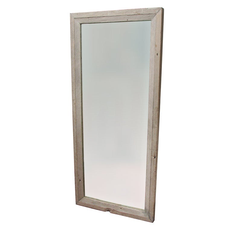 Handsome gray driftwood mirror at 1stdibs for Gray full length mirror