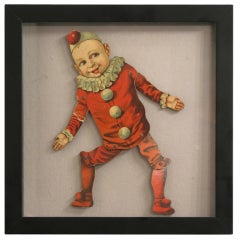 Articulated Clown Boy Puppet in Shadow Box