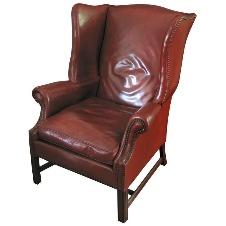 Leather Library Chair