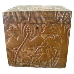 Superbly Hand-Carved Treasure Box