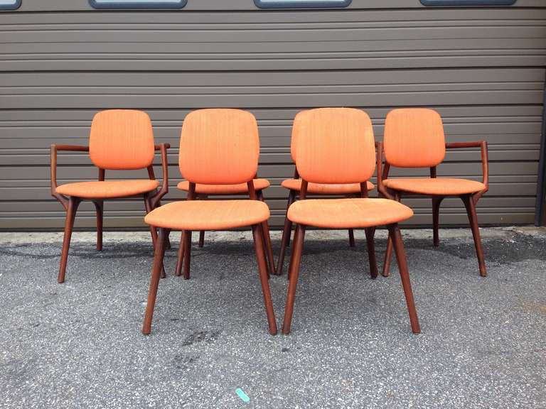 set of 6 chairs by bertha schaefer at 1stdibs