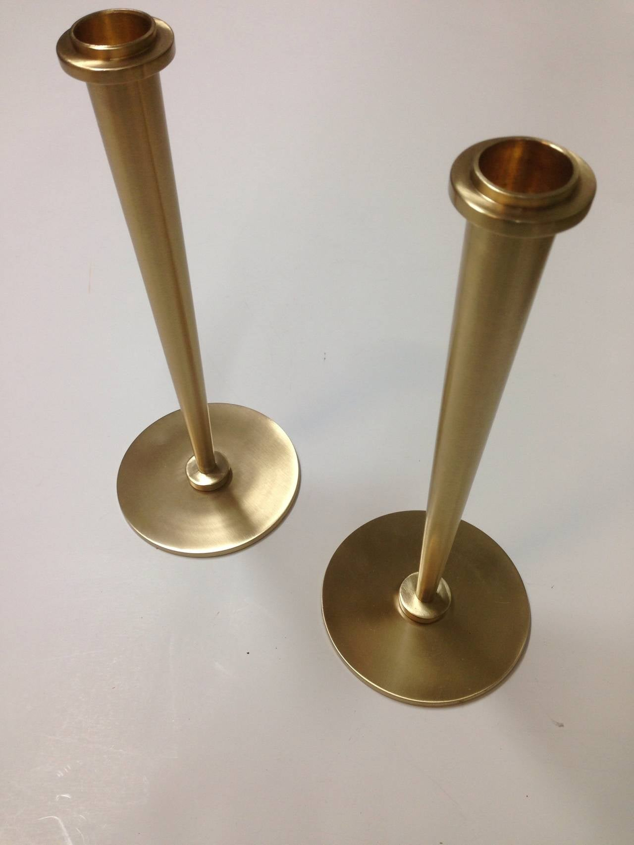 North American Pair of Candleholders in the Manner of Tommi Parzinger For Sale