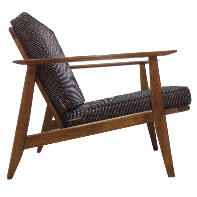 Single Danish Lounge Chair At 1stdibs