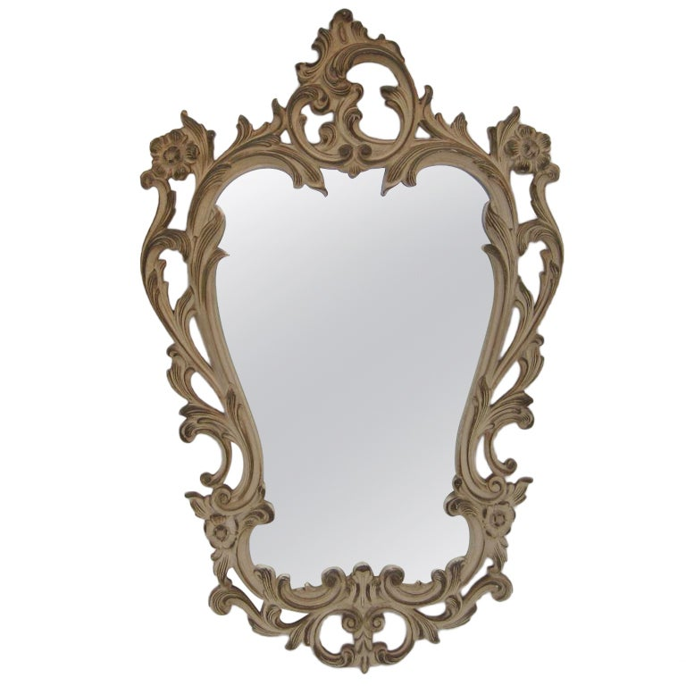 Small hollywood glamour mirror for sale at 1stdibs for Small wall mirrors for sale