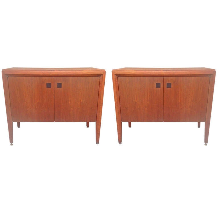 Pair of Large Nightstands in the Manner of Edward Wormley