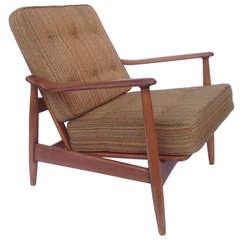 Adjustable Reclining Chair in the style of Finn Juhl