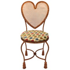 Heart Shaped Rope Chair