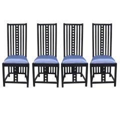 Four Charles Rennie Mackintosh Chairs